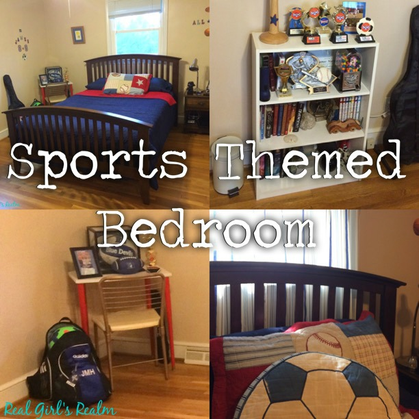 Real Girl's Realm: Sports Themed Bedroom Makeover