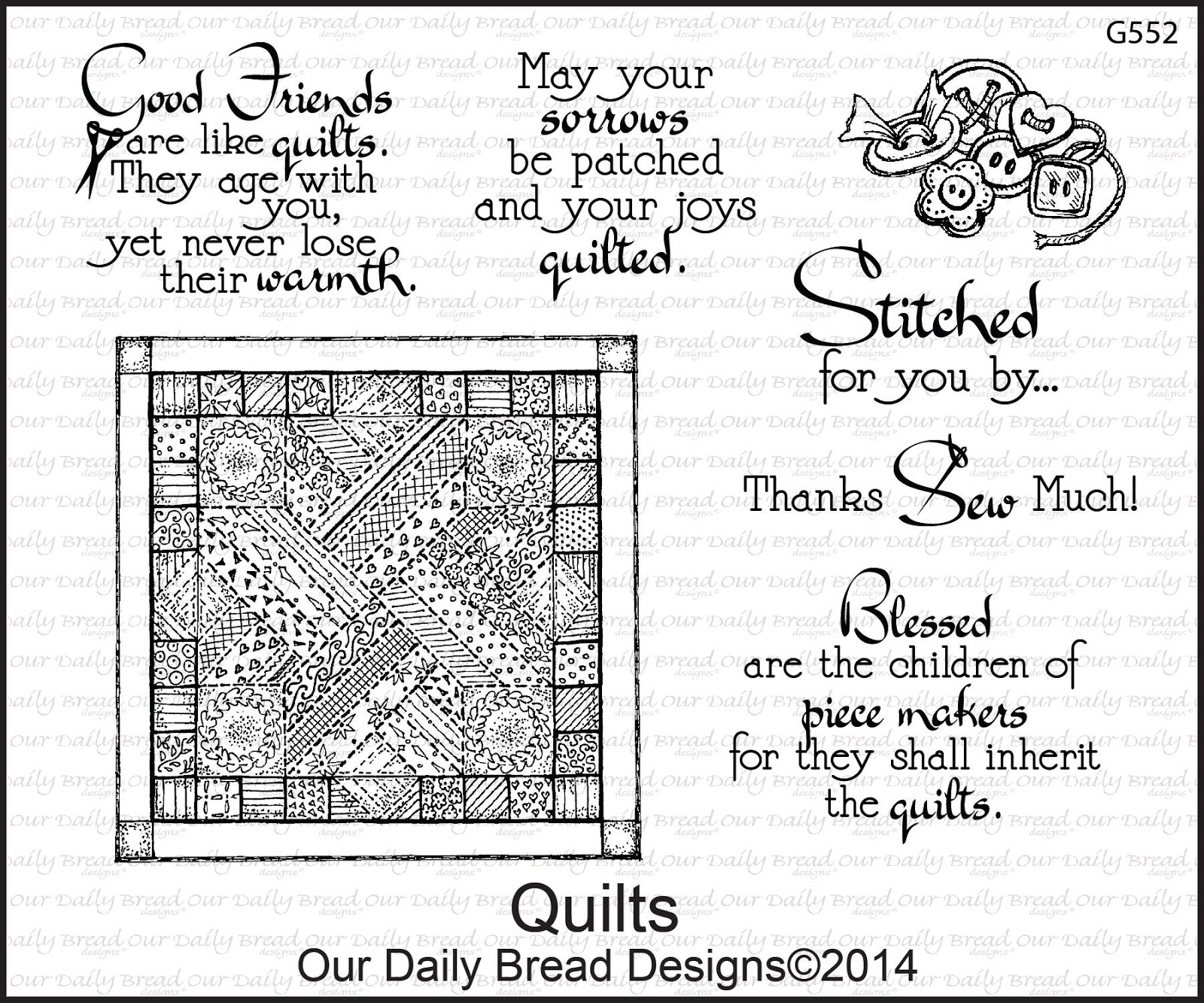 Stamps - Our Daily Bread Designs Quilts