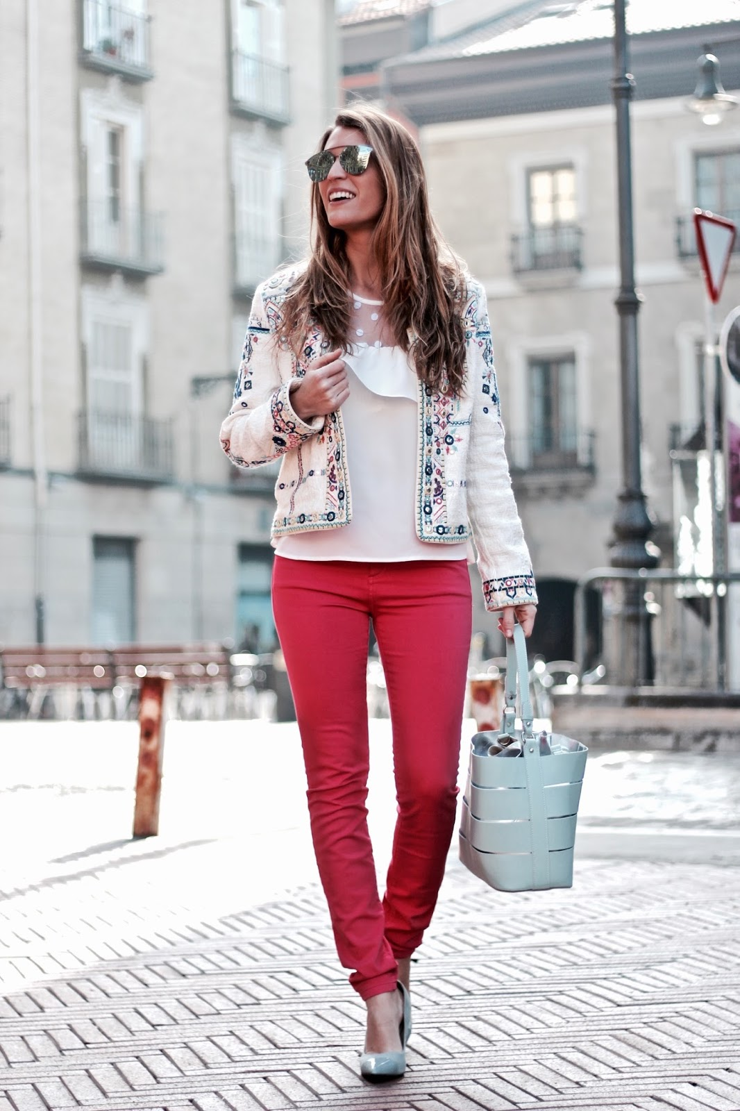 comprar pantalones rosas