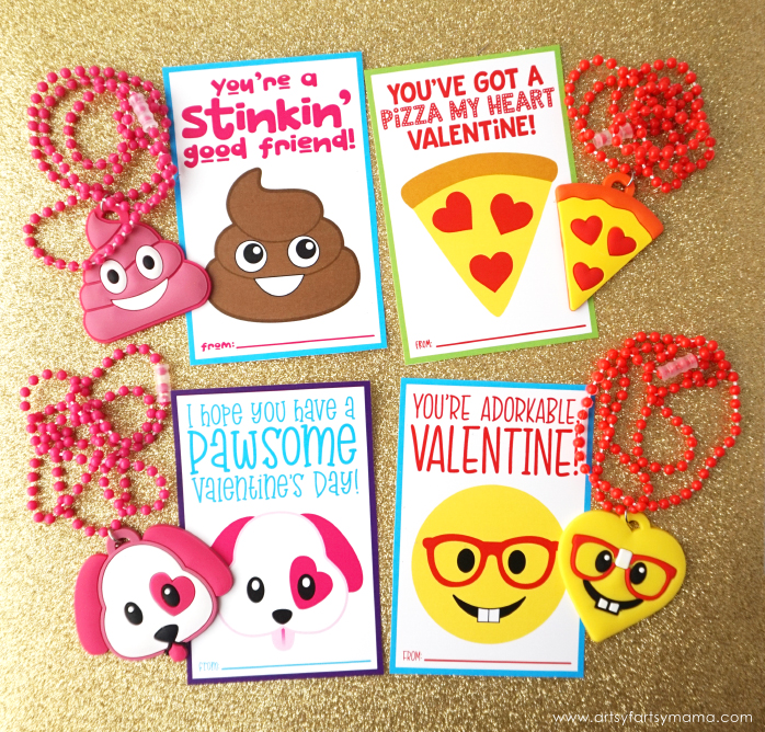 image about Free Printable Emojis named Totally free Printable Emoji Valentines artsy-fartsy mama