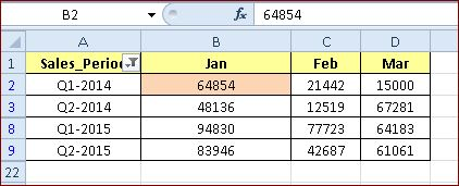 How to Select First Visible Cell in a Column of a Filtered