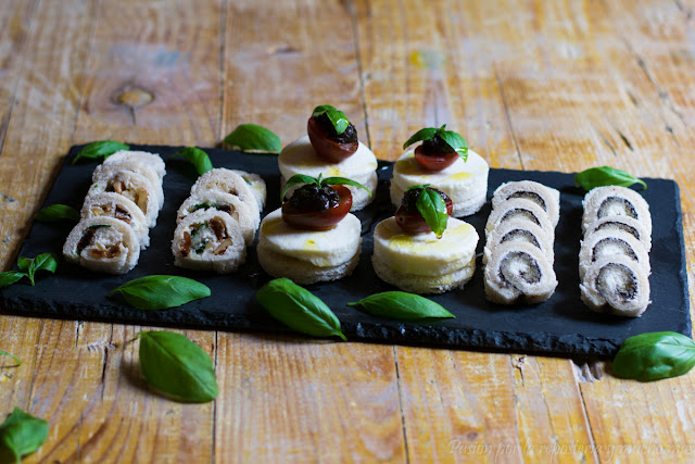 Canapés fáciles y rápidos con pan de molde