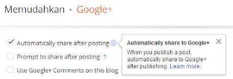 posting artikel otomatis Google Plus