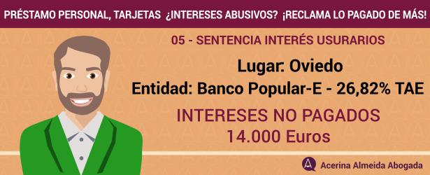 Un juez de Oviedo anula el tipo de interés de un préstamo rápido por «usurero y desproporcionado»