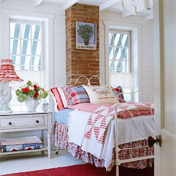 Hydrangea Hill Cottage Red White And Blue Cottage Bedrooms