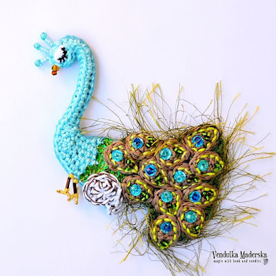 crochet peacock pattern by VendulkaM