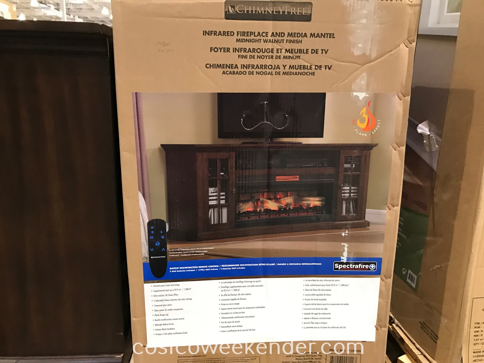Costco 1158044 - Tresanti Fireplace Console: great for any living room or family room
