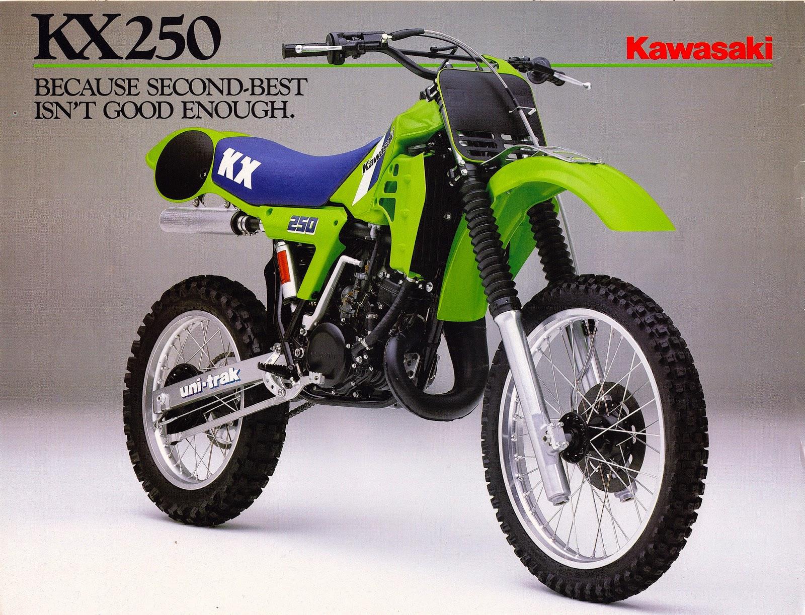 Racing Caf U00e8  Vintage Brochures  Kawasaki Kx 250 1984  Usa