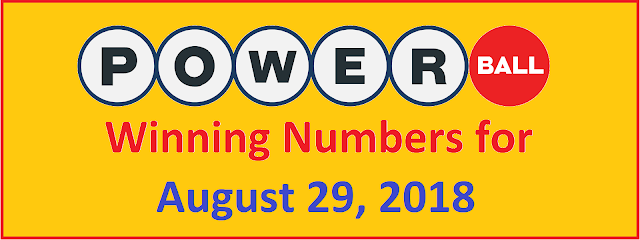 PowerBall Winning Numbers for Wednesday, 29 August 2018