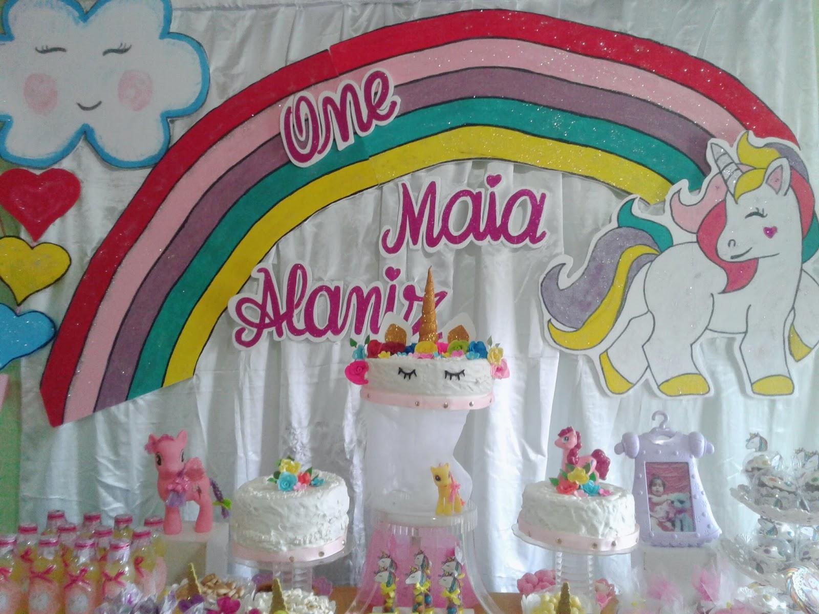 Decoraci n fiesta infantil unicornio jely for Decoracion para pared de unicornio