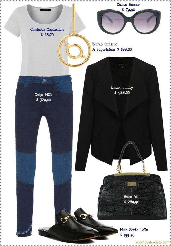 Como usar blazer com calça jeans