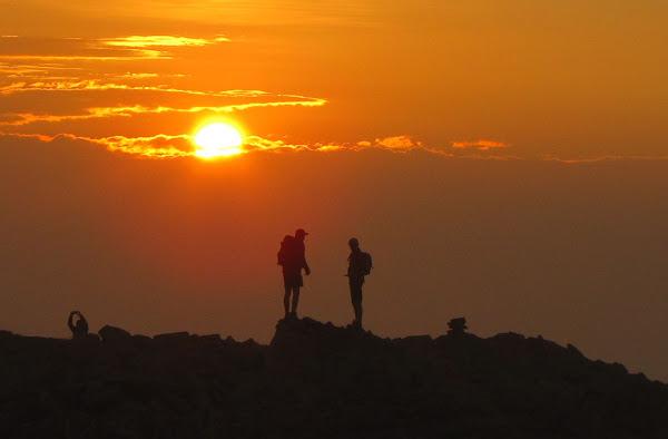 Wschód słońca na Diablaku.