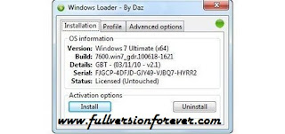 Windows 7 All Edition Activator by Daz Permanent full version