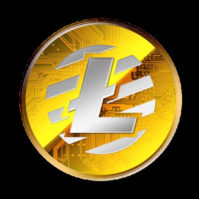 Litecoinのフリー素材(金貨ver)