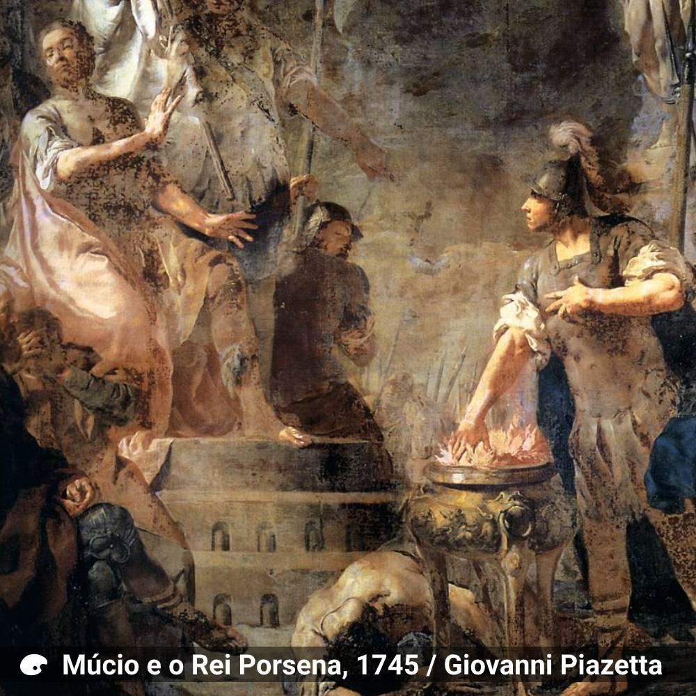 ambiente de leitura carlos romero milton marques junior caio mucio porsena tarquinio botar a mao no fogo literatura classica historia de roma