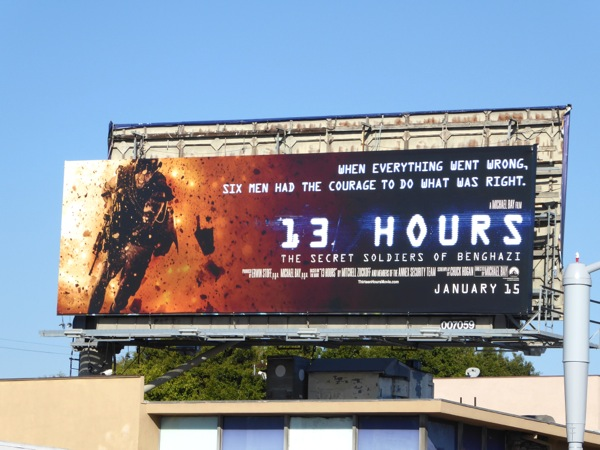 13 Hours Secret Soldiers of Benghazi billboard