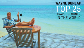 Wayne Dunlap  Selected Top 25 Travel Blog in the World by TripAdvisor