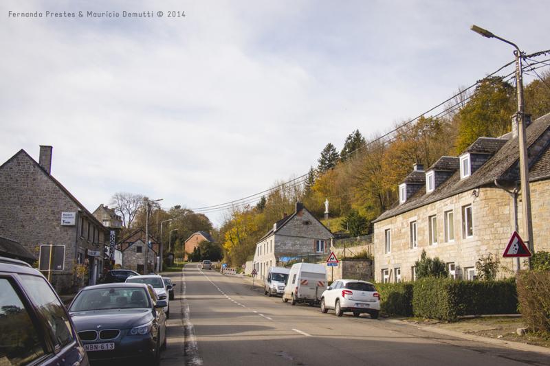 rua em Celles, bélgica