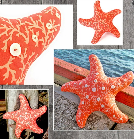 Starfish Shaped Pillow Ideas | DIY & Shop - Coastal Decor ...