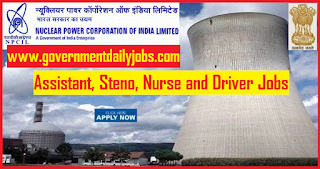 NPCIL Recruitment 2018 Nurse, Steno & Assistant 59 Posts | Apply Online