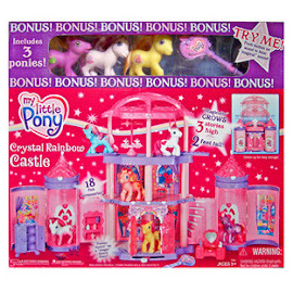 MLP Pretty Palace Building Playsets Crystal Rainbow Castle G3 Pony