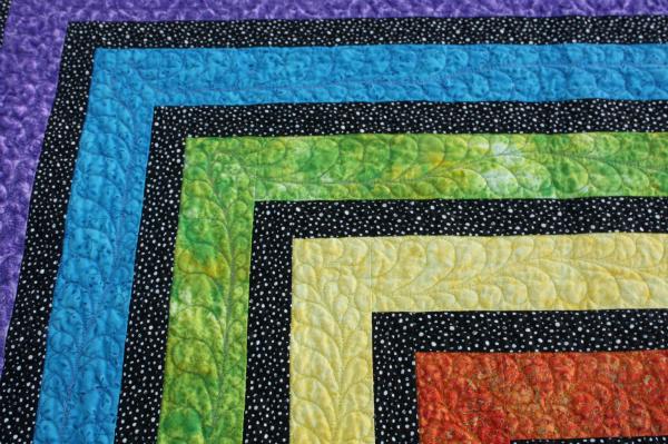 Rainbow Ripple Quilt Pattern | DevotedQuilter.blogspot.com