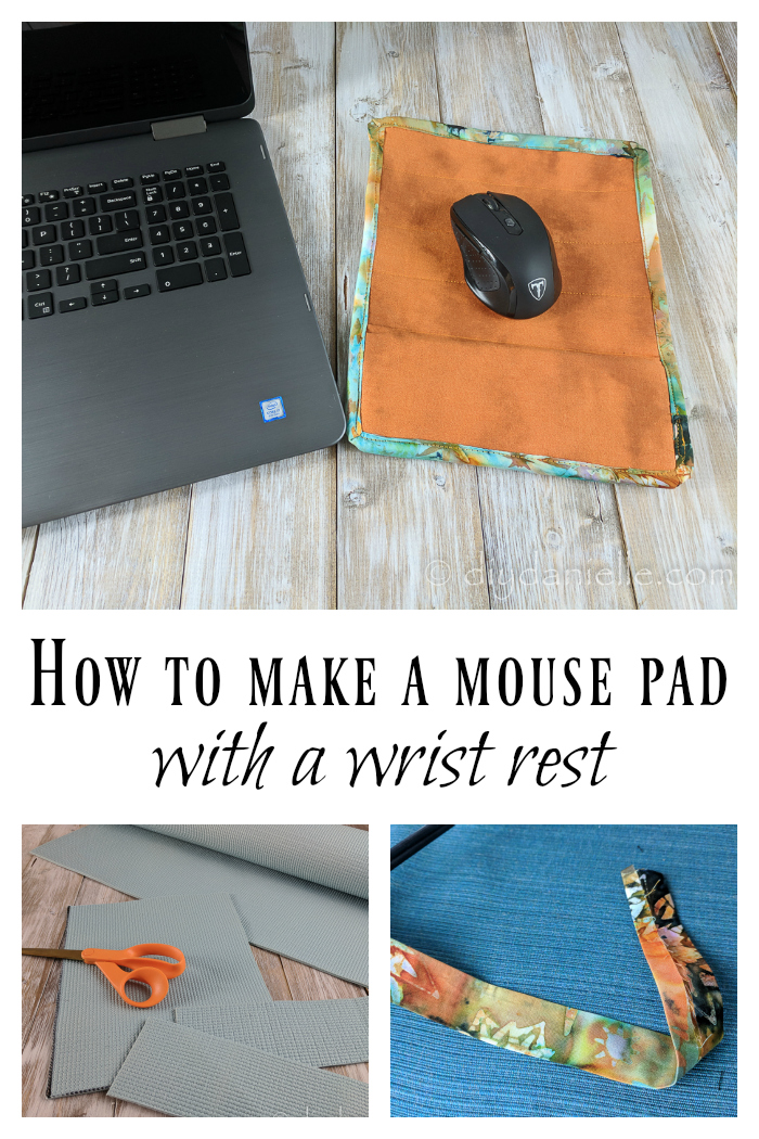 Easy to craft and sew mouse pad with wrist rest.