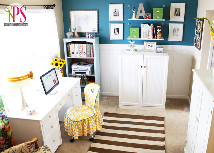 Ideas For Sewing Room Design Part - 49: Sewing Room/Home Office Reveal