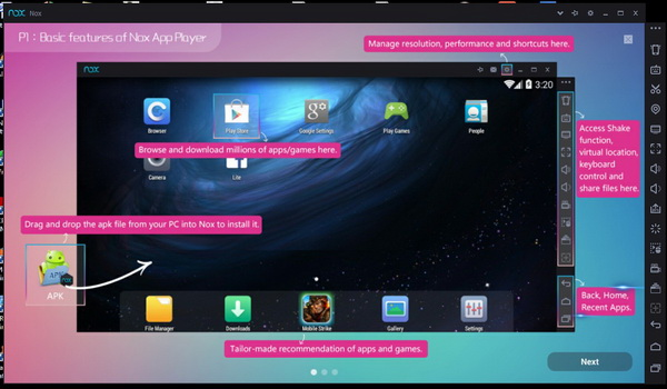 interface of Nox App Player