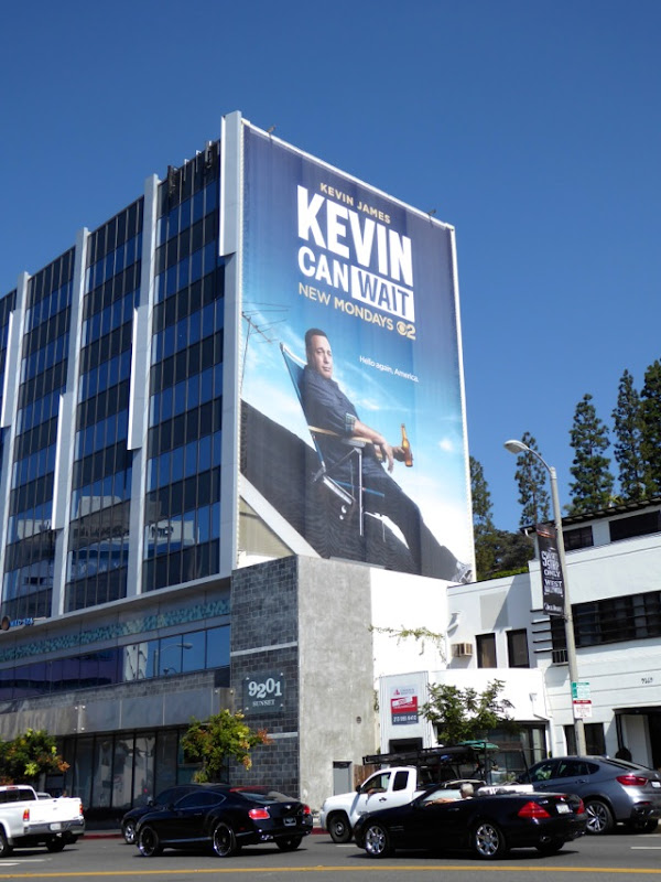 Giant Kevin Can Wait season 1 billboard Sunset Strip