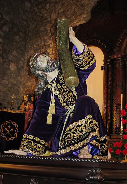Jesús con la Cruz a cuestas, iglesia de Jesulín de Galiana, Avilés