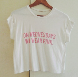 a84e7bd2 On Wednesdays we wear PINK. Hey Pinkies! Yesterday i recieved this pretty t- shirt from Brandy melville. I love it so much and it fits perfectly.