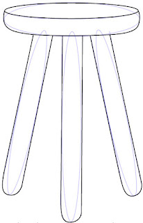 Teknik Mudah Menggambar Kursi Kayu Kecil