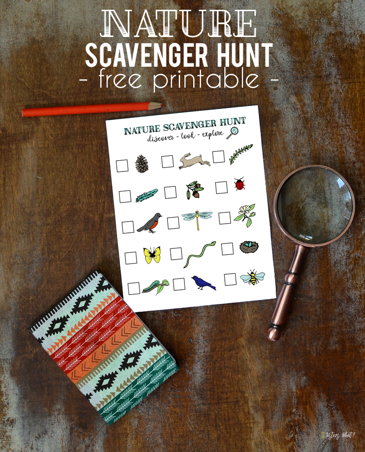 nature scavenger hunt free printable for kids