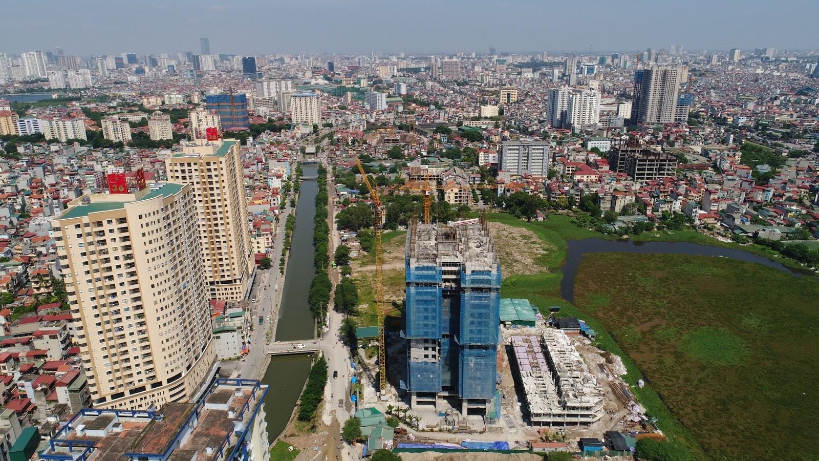 Tiến độ thực tế dự án chung cư Trung Yên