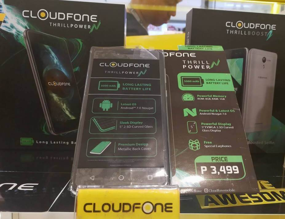 CloudFone Thrill Power N Silently Released; Quad Core w/ 5000mAh Battery for Php3,499