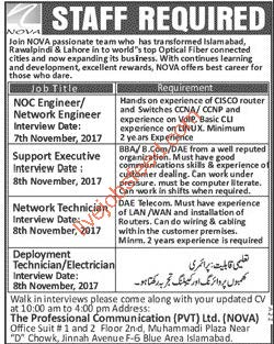 nova walk in interviews staff required noc engineer network engineer rh livejobsfeed com NOC Technician Icon Noc Position
