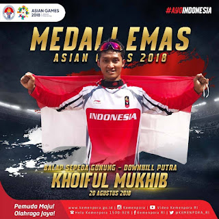 Emas Untuk Indonesia Cabang Sepeda Gunung Downhill Asian Games 2018 - 1