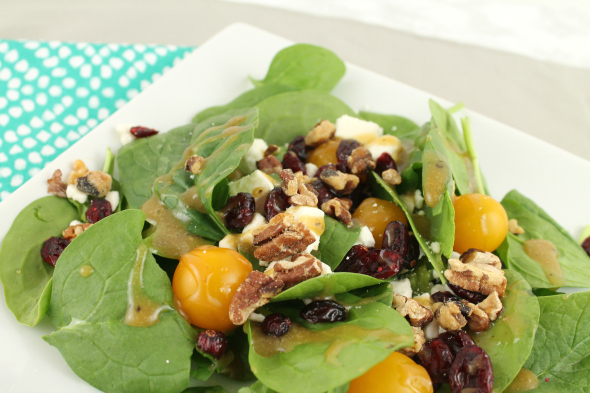 The Best Salad Ever - Cranberry, Feta and Walnut
