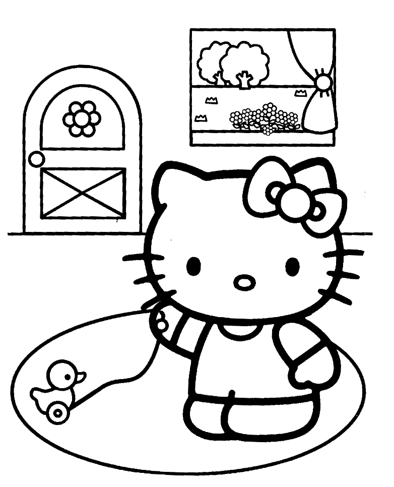free coloring pages and hello kitty | Hello Kitty for coloring : Mad about Kitty