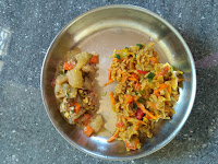 Kodo millet noodles,  Ash gourd Kurma