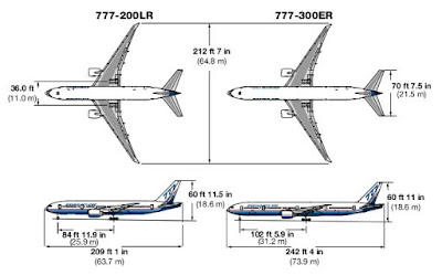 specs of boeing 777-200lr and boeing 777-300er