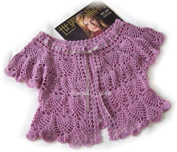 Bolero Morado a Crochet
