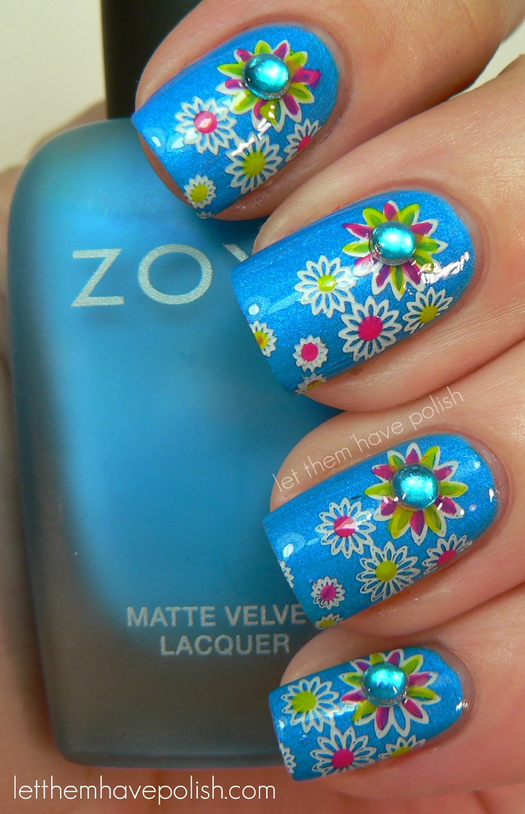 Floral Manicures For Spring And: Let Them Have Polish!: 31 Day Challenge! Day 14- Flower Nails