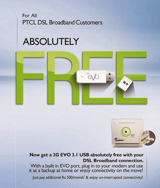 evo new usb port modem by ptcl