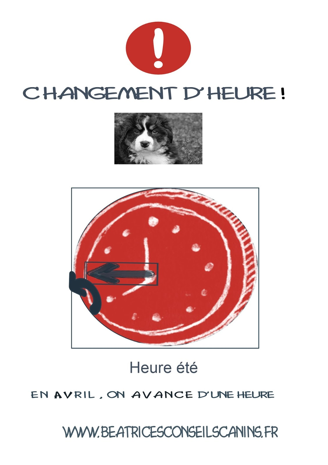 B atrice 39 s conseils canins heure d 39 t - Changement d heure 2017 france ...