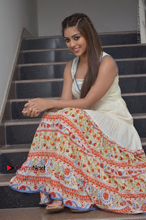 Telugu Actress Anu Emmanuel New Stills in Beautiful White Long Dress  0063.JPG
