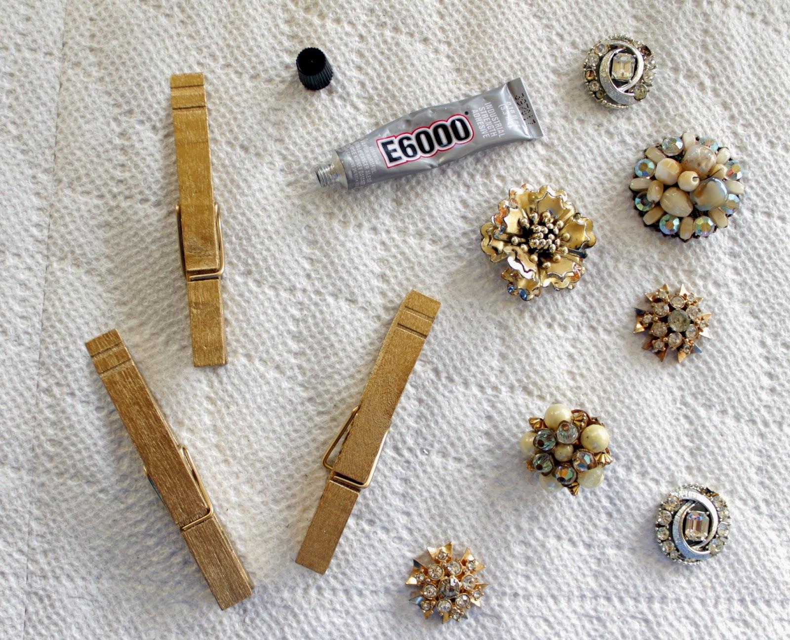 vintage brooch instagram display