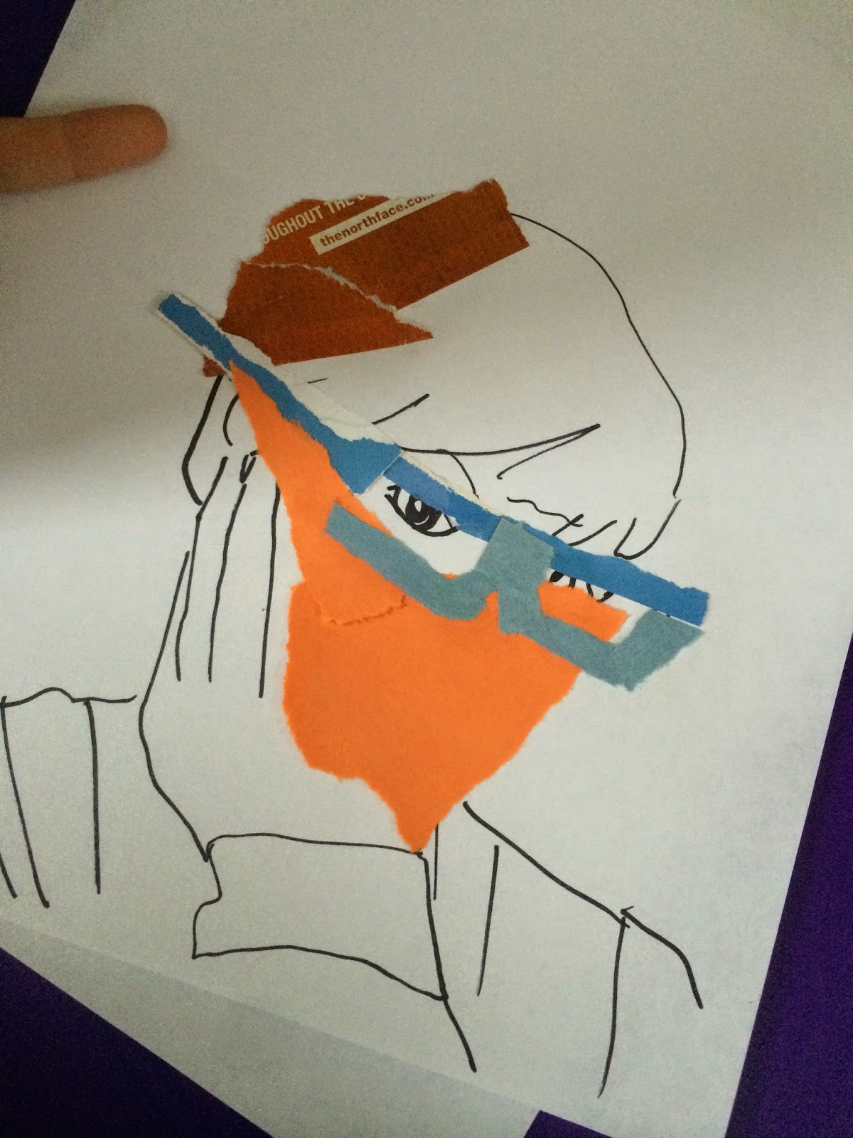 Students Then Placed A Blank White Sheet Of Paper On Top Their Contour Drawings And Traced Onto The This Was Used As To