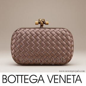 Crown Princess Mary style Bottega Veneta Knot Clutch